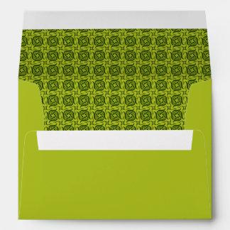 Five shaped Green pattern Envelope