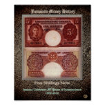 Five Shilling Note Posters