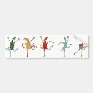 Five Silly Fillies Bumper Sticker