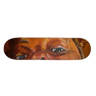 five skate boards