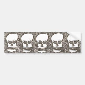 Five skulls bumper stickers