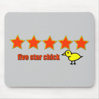 Five Star Chick Mouse Pad