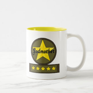 Five Star Godmother Mothers Day Gifts Two-Tone Coffee Mug