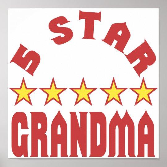 Five Star Grandma Poster