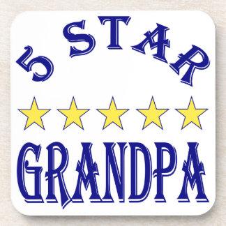 Five Star Grandpa Beverage Coaster