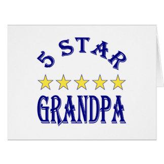 Five Star Grandpa Card