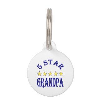 Five Star Grandpa Pet Name Tag