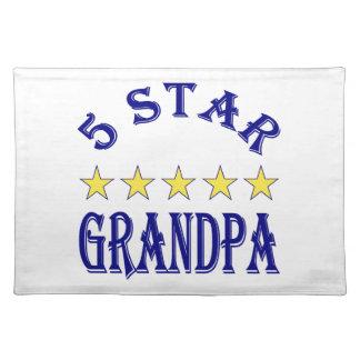 Five Star Grandpa Cloth Place Mat