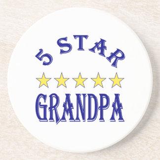 Five Star Grandpa Sandstone Coaster