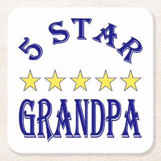 Five Star Grandpa Square Paper Coaster