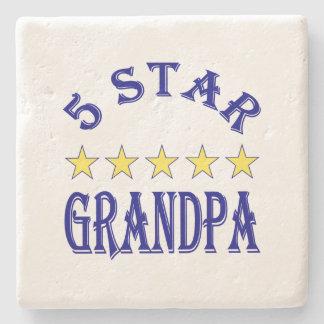 Five Star Grandpa Stone Coaster