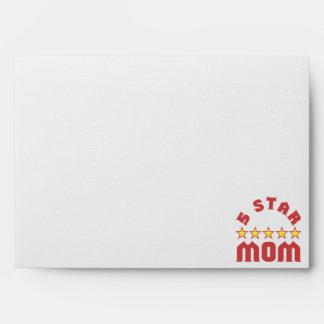 Five Star Mom Envelope