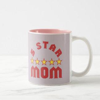 Five Star Mom Two-Tone Coffee Mug