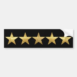 Five Stars Bumper Stickers