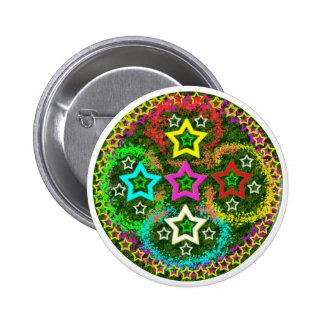 Five Stars Colorful Button