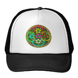 Five Stars Colorful Mesh Hat