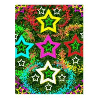 Five Stars Colorful Postcard