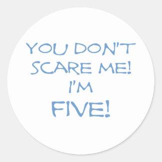 Five Classic Round Sticker
