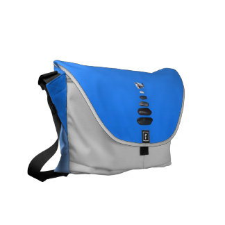 Five stones and white orchids commuter bags