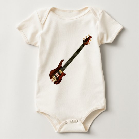 Five String Alembi Bass Guitar Baby Bodysuit