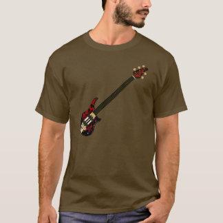 Five String Fretles Bass Guitar (red blob) T-Shirt