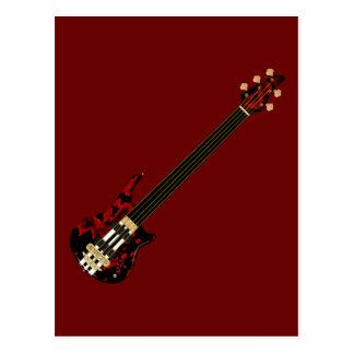 Five String Fretless Bass Guitar (red blob) Postcard