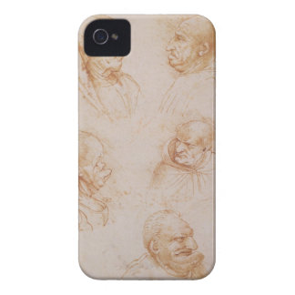 Five Studies of Grotesque Faces (red chalk on pape Case-Mate iPhone 4 Case