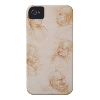Five Studies of Grotesque Faces (red chalk on pape iPhone 4 Cover