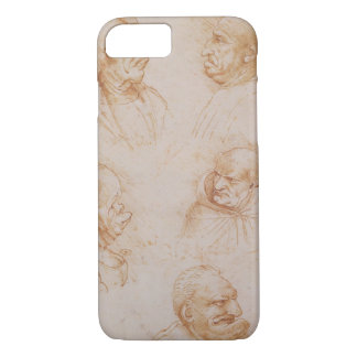 Five Studies of Grotesque Faces (red chalk on pape iPhone 8/7 Case