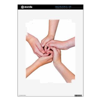 Five teenage arms with hands entangled iPad 2 skins