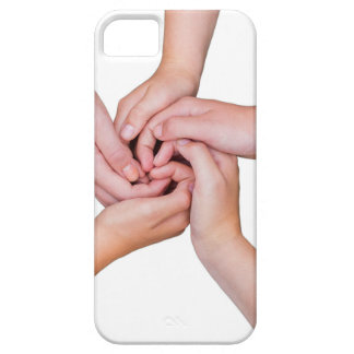 Five teenage arms with hands entangled iPhone SE/5/5s case
