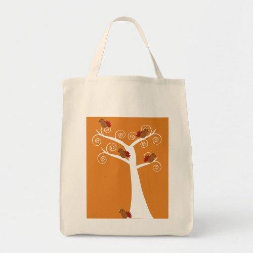 Five Thanksgiving Turkeys in a Tree Bag