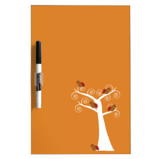 Five Thanksgiving Turkeys in a Tree Dry-Erase Whiteboard