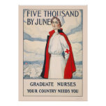 Five thousand by June - Graduate Nurses Needed Poster
