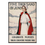 Five Thousand by June Nurse Recruiting Poster