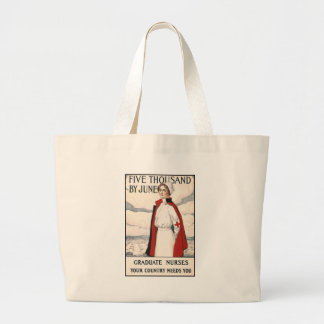 Five Thousand by June Nurse Recruiting Poster Large Tote Bag