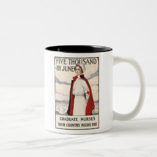 Five Thousand by June Nurse Recruiting Poster Two-Tone Coffee Mug