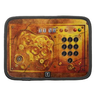 Five to of 12 Steampunk clock Grunge Folio Planer