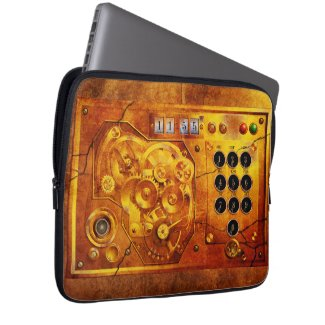Five to of 12 Steampunk clock Grunge Laptop Sleeve Schutzhülle