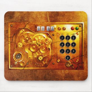 Five to of 12 Steampunk clock Grunge Mousepad