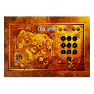 Five to of 12 Steampunk clock Grunge Visitenkarten