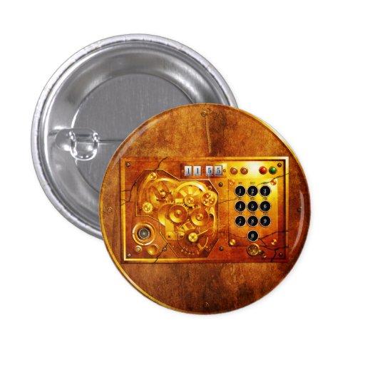 Five to of de 12 Steampunk clock Grunge Pin Redondo 2,5 Cm