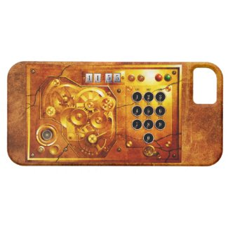 Five ton of 12 Steampunk clock Grunge iPhone 5 Cover