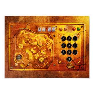 Five ton of 12 Steampunk clock Grunge Invite