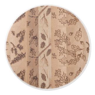 Five Trees Rustic Primitive Woodland Ceramic Knob
