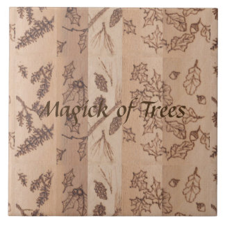 Five Trees Rustic Primitive Woodland Tiles