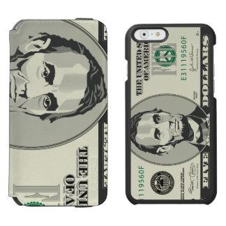 Five USD $ Dollar Money Banknote  Currency Incipio Watson™ iPhone 6 Wallet Case