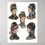 Five Victorian Beauties Poster