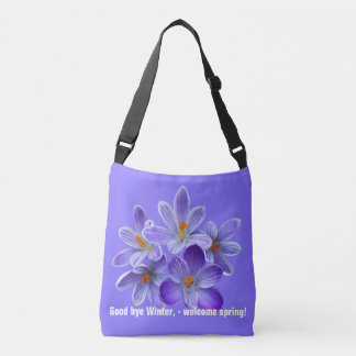 Five violet crocuses 05.0.2.T, spring greetings Crossbody Bag