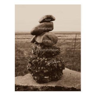 Five Virtues of Zen Postcard